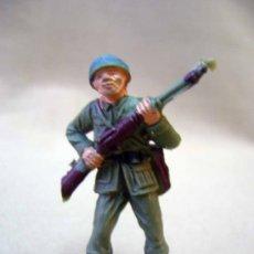 Figuras de Goma y PVC: FIGURA DE PLASTICO, SOLDADO AMERICANO, CASCO AZUL, JECSAN. Lote 30919423