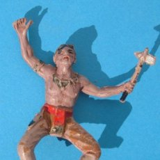 Figuras de Goma y PVC: INDIO JECSAN. EN GOMA. MUY ANTIGUO ORIGINAL.. Lote 31012590