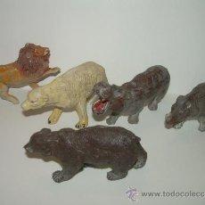 Figuras de Goma y PVC: CINCO FIGURAS DE ANIMALES...AÑOS 50.....PECH...... Lote 31051928
