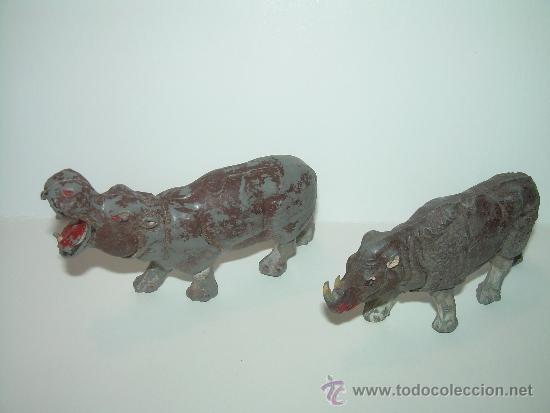 Figuras de Goma y PVC: CINCO FIGURAS DE ANIMALES...AÑOS 50.....PECH..... - Foto 2 - 31051928