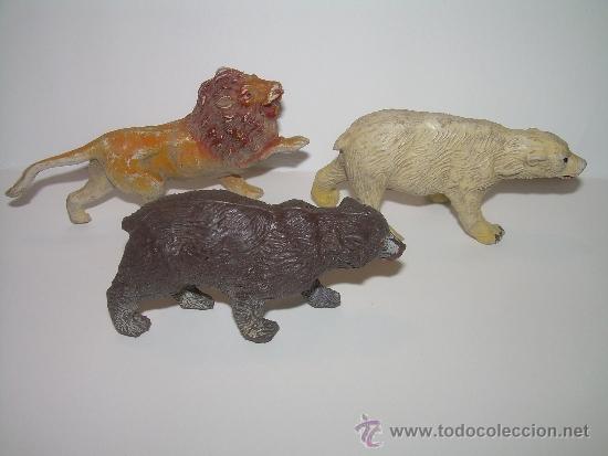 Figuras de Goma y PVC: CINCO FIGURAS DE ANIMALES...AÑOS 50.....PECH..... - Foto 3 - 31051928
