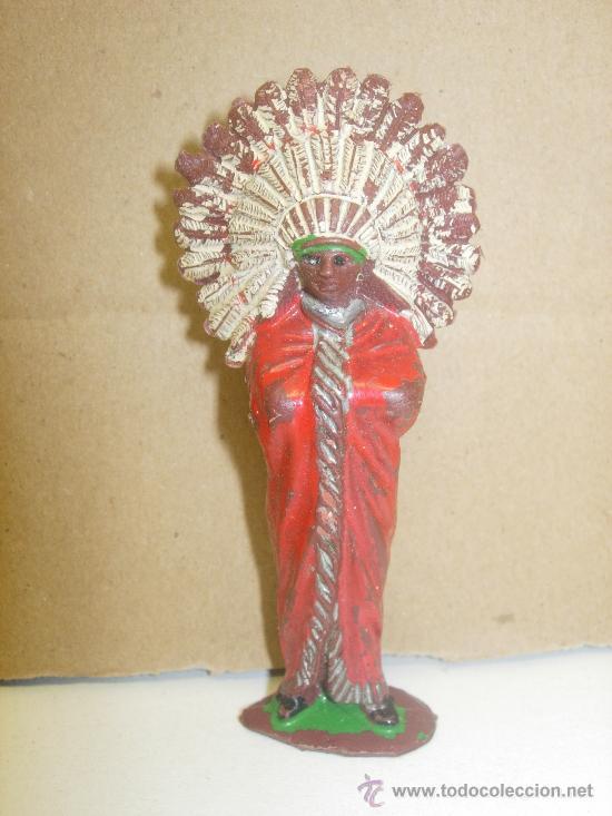 FIGURA PLÁSTICO JEFE INDIO REAMSA (Juguetes - Figuras de Goma y Pvc - Reamsa y Gomarsa)