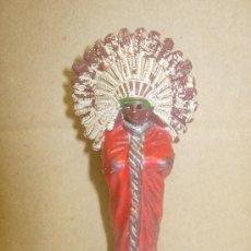 Figuras de Goma y PVC: FIGURA PLÁSTICO JEFE INDIO REAMSA. Lote 31600251