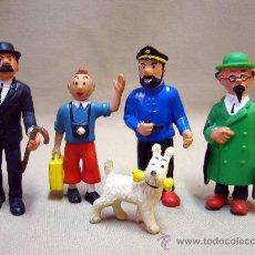 Figuras de Goma y PVC: LOTE DE 5 FIGURAS DE PVC, SERIE TIN TIN, DE HERGE, FABRICADOS POR COMIC SPAIN, 1984-86. Lote 31870439