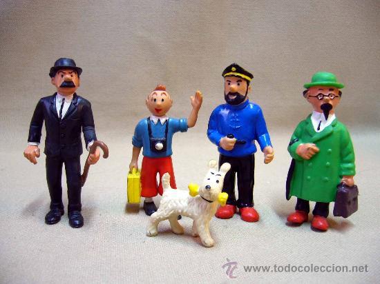 Figuras de Goma y PVC: LOTE DE 5 FIGURAS DE PVC, SERIE TIN TIN, DE HERGE, FABRICADOS POR COMIC SPAIN, 1984-86 - Foto 14 - 31870439