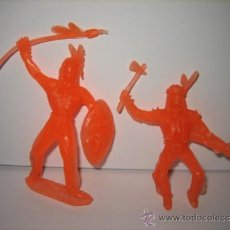Figuras de Goma y PVC: ANTIGUOS INDIOS DE PLASTICO AÑOS 60-70 COMANSI. Lote 31883731