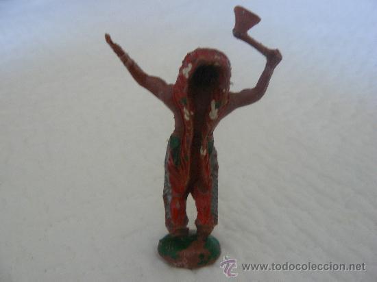 Figuras de Goma y PVC: JEFE INDIO EN PLASTICO DE LA MARCA LAFREDO AÑOS 50-60 - Foto 2 - 31956806