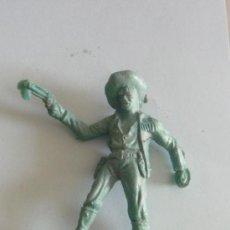 Figuras de Goma y PVC: FIGURA VAQUERO PLASTICO ANTIGUO. Lote 32246923