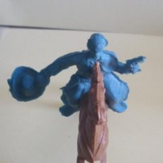 Figuras de Goma y PVC: FIGURA VAQUERO CABALLO PLASTICO ANTIGUO. Lote 32014599