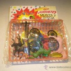 Figuras de Goma y PVC: BLISTER CARAVANA AÑOS 70 - INDIOS Y VAQUEROS. Lote 32109708
