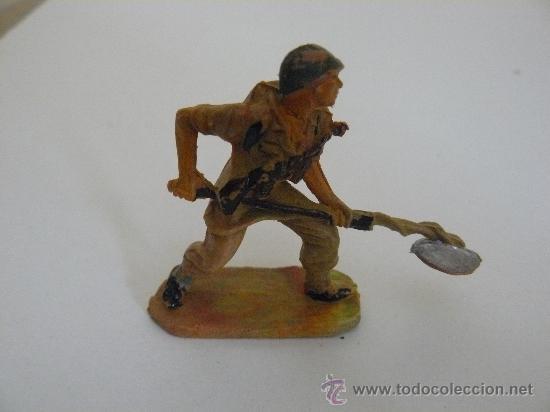 SOLDADO AMERICANO (MARINE) PLASTICO MARCA PECH HERMANOS SERIE AMERICANOS EN COMBATE (Juguetes - Figuras de Goma y Pvc - Pech)