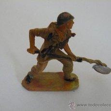 Figuras de Goma y PVC: SOLDADO AMERICANO (MARINE) PLASTICO MARCA PECH HERMANOS SERIE AMERICANOS EN COMBATE. Lote 32366356