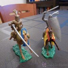 Figuras de Goma y PVC: TIMPO-CABALLEROS MEDIEVALES-54MM(1ª ÉPOCA). Lote 32502998