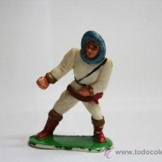 Figuras de Goma y PVC: FIGURA DE GOMA, ESQUIMAL DE LA SERIE DE MANUEL SOTORRES, AÑOS 50. Lote 32635609