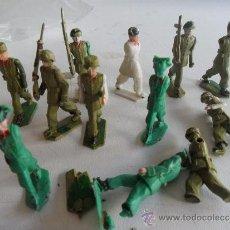 Figuras de Goma y PVC: FIGURAS DE SOLDADOS CON LOS BRAZOS ARTICULADOS. Lote 32776261