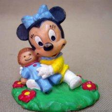 Figuras de Goma y PVC: FIGURA DE PVC, FABRICADA POR BULLY, BABY MINNIE, PERSONAJE MICKEY, ALEMANIA. Lote 32857061