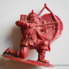 Figuras de Goma y PVC: PIPERO : ARQUERO VIKINGO REG MONOCOLOR AÑOS 60 ORIGINAL 100% . Lote 32968640