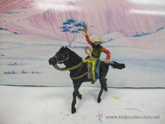 VAQUERO MARIANO SOTORRES - CABALLO DE PECH ,OLIVER (Juguetes - Figuras de Goma y Pvc - Sotorres)