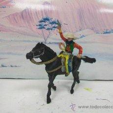 Figuras de Goma y PVC: VAQUERO MARIANO SOTORRES - CABALLO DE PECH ,OLIVER . Lote 33194170