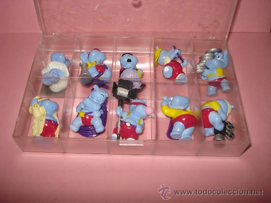 Figuras Kinder: Antigua Colección Completa de 10 Hipopotamos Estrellas de Hollywood de KINDER de FERRERO . Año1990s - Foto 3 - 33323394