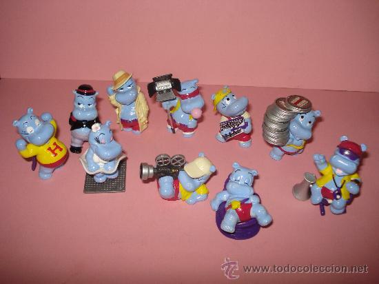 Figuras Kinder: Antigua Colección Completa de 10 Hipopotamos Estrellas de Hollywood de KINDER de FERRERO . Año1990s - Foto 2 - 33323394
