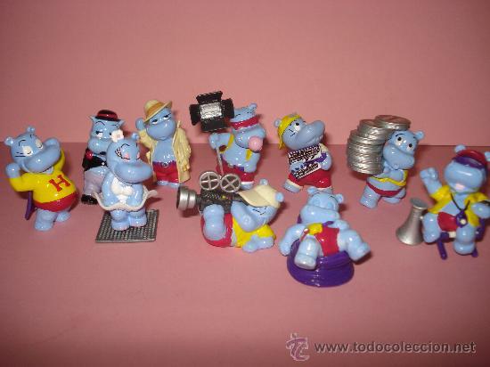 Figuras Kinder: Antigua Colección Completa de 10 Hipopotamos Estrellas de Hollywood de KINDER de FERRERO . Año1990s - Foto 5 - 33323394