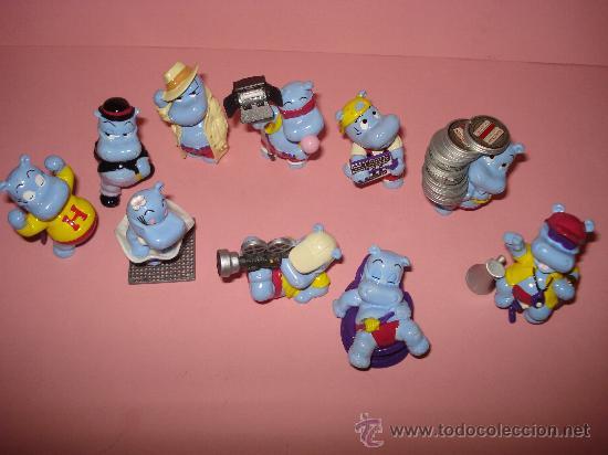 Figuras Kinder: Antigua Colección Completa de 10 Hipopotamos Estrellas de Hollywood de KINDER de FERRERO . Año1990s - Foto 6 - 33323394