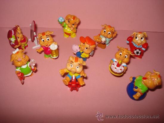 Figuras Kinder: Antigua Colección Completa de Cerditos PINKY PIGGYS de KINDER de FERRERO . Año 2000 - Foto 2 - 33323887