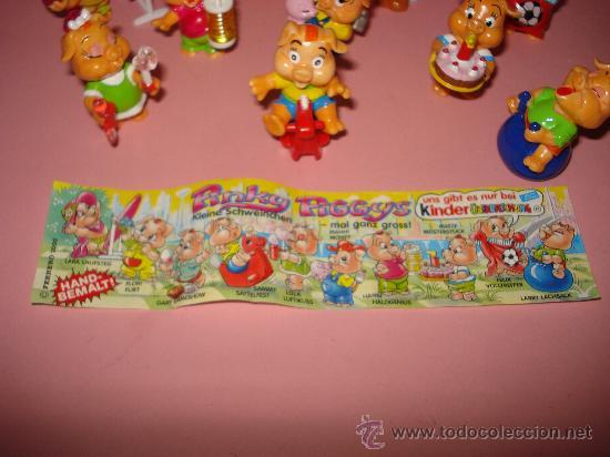 Figuras Kinder: Antigua Colección Completa de Cerditos PINKY PIGGYS de KINDER de FERRERO . Año 2000 - Foto 3 - 33323887