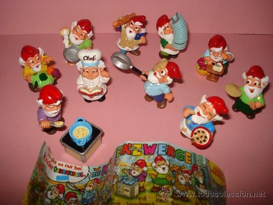 Figuras Kinder: Antigua Colección Completa de 10 ENANOS COCINEROS de KINDER de FERRERO . Año1990s - Foto 3 - 33323284