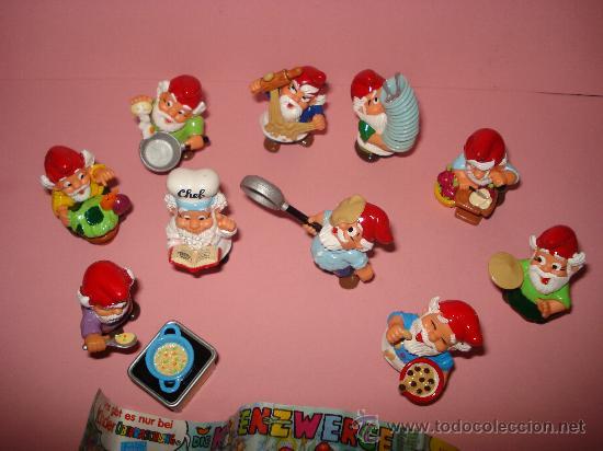 Figuras Kinder: Antigua Colección Completa de 10 ENANOS COCINEROS de KINDER de FERRERO . Año1990s - Foto 2 - 33323284