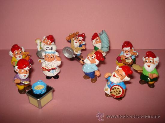 Figuras Kinder: Antigua Colección Completa de 10 ENANOS COCINEROS de KINDER de FERRERO . Año1990s - Foto 4 - 33323284