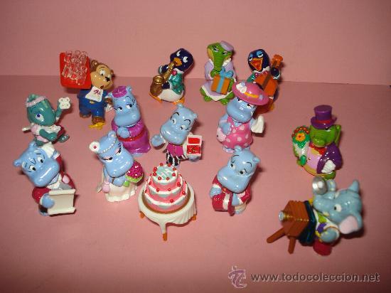 Figuras Kinder: Antigua Colección Completa de 14 Animales BODA DE HIPOPOTAMOS de KINDER de FERRERO . Año1990s - Foto 3 - 33323670