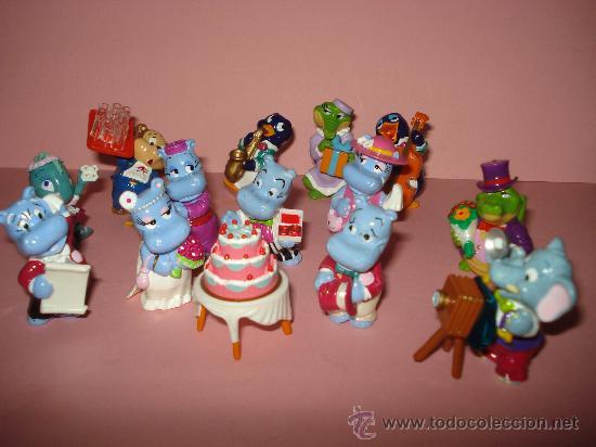 Figuras Kinder: Antigua Colección Completa de 14 Animales BODA DE HIPOPOTAMOS de KINDER de FERRERO . Año1990s - Foto 2 - 33323670