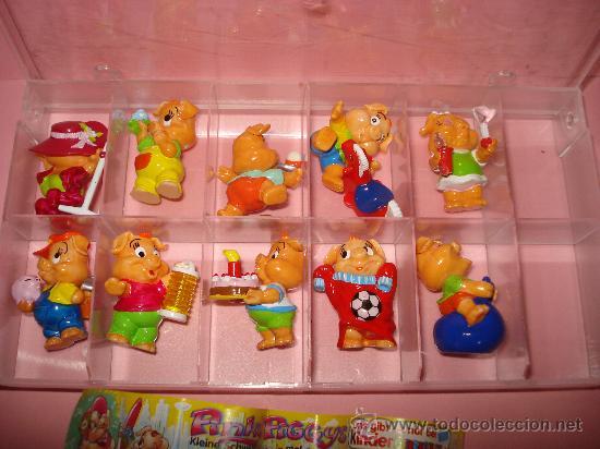 ANTIGUA COLECCIÓN COMPLETA DE CERDITOS PINKY PIGGYS DE KINDER DE FERRERO . AÑO 2000 (Juguetes - Figuras de Gomas y Pvc - Kinder)