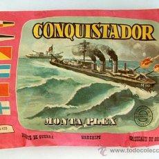 Figuras de Goma y PVC: SOBRE MONTAPLEX Nº 433 BUQUE DE GUERRA CONQUISTADOR - SOBRE CERRADO. Lote 160183536