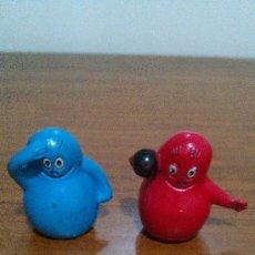 Figuras de Goma y PVC: 2 FIGURAS PVC BARBAPAPA. AÑOS 70. MUY DIFICILES; ORIGINALES. COMICS SPAIN. Lote 33400125