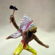 Figuras de Goma y PVC: FIGURA DE PLASTICO, INDIO, FABRICADO POR COMANSI. 1980S. Lote 33582311