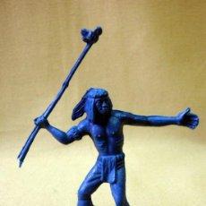 Figuras de Goma y PVC: FIGURA DE PLASTICO, PIPERO, INDIO, CON LANZA. Lote 33639928