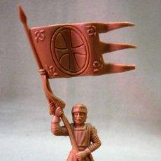 Figuras de Goma y PVC: FIGURA PLASTICO, FUSILADA DE REAMSA, MEDIEVAL, Nº 129, PARA PINTAR. Lote 33640276