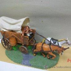Figuras de Goma y PVC: CARRETA ELASTOLIN - ORIGINAL CARRETA DE ELASTOLIN - CARAVANA ELASTOLIN CON BASE DIORAMA. Lote 33638720
