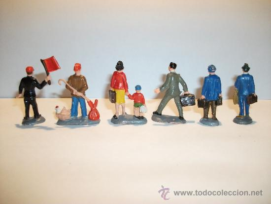 Figuras de Goma y PVC: CONJUNTO DE SEIS FIGURAS DE GOMA, FABRICADAS POR PECH, AÑOS 50-60. - Foto 2 - 33641837