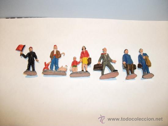 Figuras de Goma y PVC: CONJUNTO DE SEIS FIGURAS DE GOMA, FABRICADAS POR PECH, AÑOS 50-60. - Foto 3 - 33641837