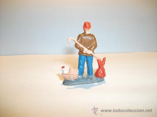 Figuras de Goma y PVC: CONJUNTO DE SEIS FIGURAS DE GOMA, FABRICADAS POR PECH, AÑOS 50-60. - Foto 7 - 33641837