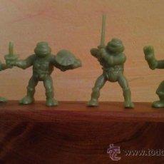 Figuras de Goma y PVC: LOTE DE LAS 4 TORTUGAS NINJA .MUY BUSCADAS.TAMAÑO DUNKIN.TORTUGAS NINJA. Lote 286396448