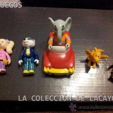 Figuras de Goma y PVC: ANTIGUO LOTE DE MUÑECOS BABAR Y SUS AMIGOS. Lote 182105143
