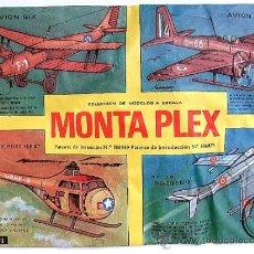 Figuras de Goma y PVC: SOBRE MONTAPLEX Nº 401 MODELOS A ESCALA - SOBRE CERRADO. Lote 294020558