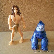 Figuras de Goma y PVC: TARZAN Y GORILA, DISNEY. Lote 33995186