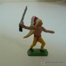 Figuras de Goma y PVC: INDIO EN PLASTICO MARCA COMANSI AÑOS 70 SERIE MINI OESTE. Lote 44950717
