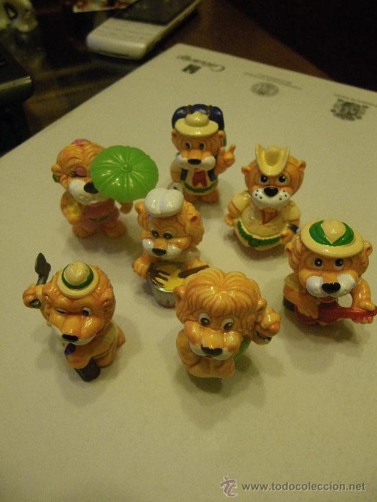 LOTE 7 FIGURAS KINDER LEONES (Juguetes - Figuras de Gomas y Pvc - Kinder)